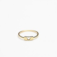 Gorjana Womens Cutout Heart Ring - Gold,