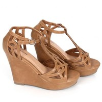 Walk Tall Taupe Strappy Wedge | Monday Dress Boutique