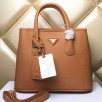 PRADA Women Shopping Leather Handbag Tote Satchel Shoulder Bag  H-LLBPFSH G-MYJSY-BB