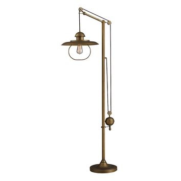 Hamlin Adjustable Floor Lamp in Antique Brass (65101-1)