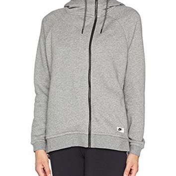 Nike Women's Modern Fleece Cape Asymmetrical Zip Hooded Jacket