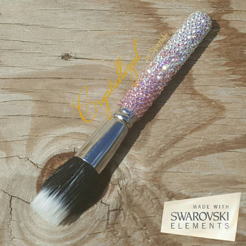 Swarovski Crystal Ombre Two Toned Bling Bling Crystallized MAC Brush Morphe Brush