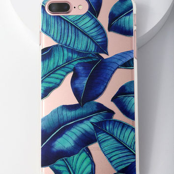 Tropical Leaves iPhone 6 Plus, 7 Plus, and 8 Plus Case