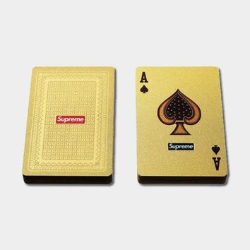cc hcxx Supreme Gold Deck Playing Cards