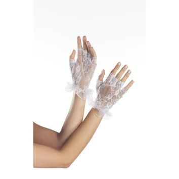 Be Wicked BW3006 Fingerless Wrist-length Lace Gloves