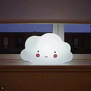 CandyQ Nursery Lamp, Childrens Bedroom Cute Cloud Face Night Light