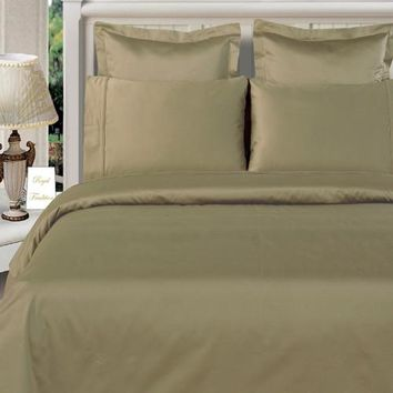 """100% Bamboo Sage-Green Duvet Cover Set """"Silky Super Soft Covers"""""""
