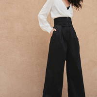 Silence + Noise Super-High Rise Wide Leg Pant | Urban Outfitters