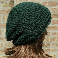 Slouchy Hat - The Eden in Forest -Womens Hat - Mens Hat - Slouchy Beanie