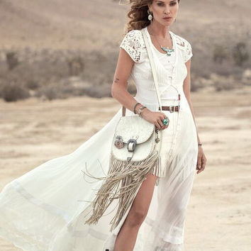 Wild Belle Gown (with slip) - White