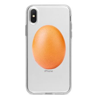 CLEAR WORLD RECORD EGG CUSTOM IPHONE CASE