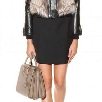 Copy of Coyote Fur & Leather Moto Jacket