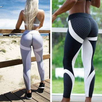 Mesh Pattern Workout Leggings