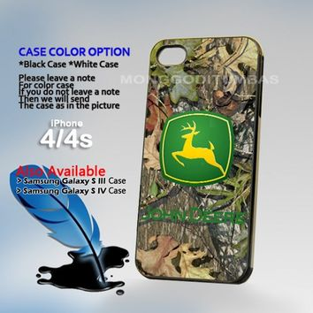 JOhn deere cemo Photo On Hard Plastic iPhone 4 4S Case