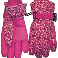 N'ice Caps Geo Print Ski Glove for Girls