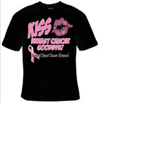 kiss breast cancer good bye t shirt, tee shirt, t-shirts