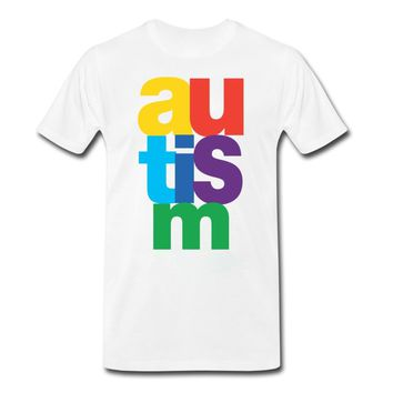 Autism Simple Letter Style T-shirt Awareness Tee