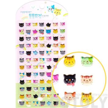 Kitty Cat Face Shaped Animal Spongy Stickers for Scrapbooking