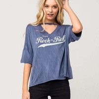 FULL TILT Rock & Roll Womens Choker Tee