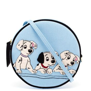 Dalmatians Embroidered Felt Drum Bag - OLYMPIA LE-TAN