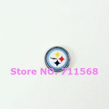 Steelers Floating Charm National Football League Pittsburgh Team Logo Floating Locket Charm For Memory Glass Locket