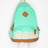 Urban Outfitters - Kimchi Blue Lace & Jersey Backpack