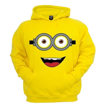 Minion Dispicable me Sweatshirt Hoodie in Yellow for Adults