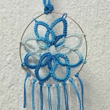 Car Dreamcatcher Blue Dreamcatcher Small Dreamcatcher Wiccan Dreamcatcher Dream Protection Wall Decor Hanging Mobile Native American Hanging