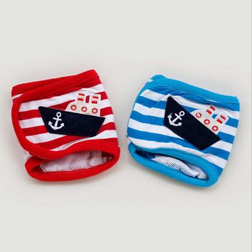 Male Striped Cotton Dog Shorts Baby Doggie Diapers Pants Sanitary for Dogs Pets Supples Products S M L