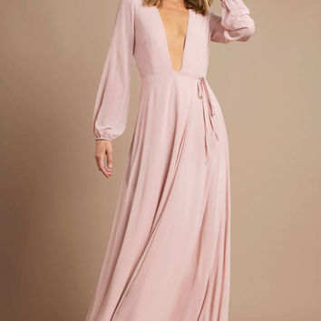Cherish Me Plunging Maxi Dress