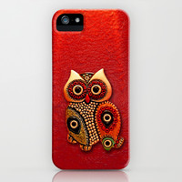 Cute Retro beads Owl apple iPhone 3, 4 4s, 5 5s 5c, iPod & samsung galaxy s4 case cover