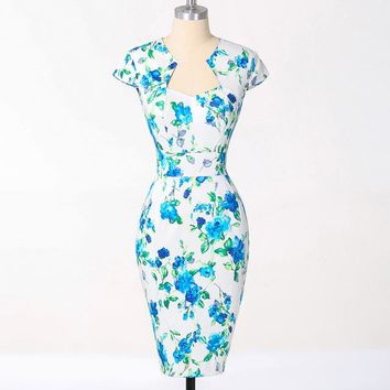 Women Plus Size Dresses Rockabilly Clothing Floral Summer Casual