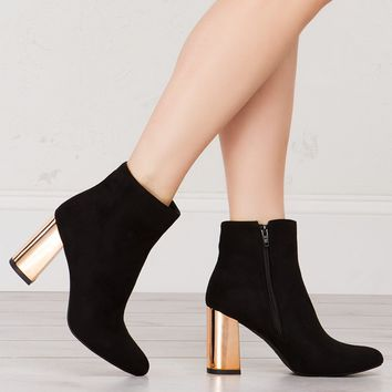 CITY GIRL CHUNKY HEELED ANKLE BOOTIES - What's New