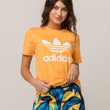 ADIDAS Trefoil Orange Womens Tee