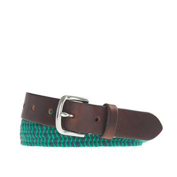 crewcuts Boys Braided Web Belt In Stripe