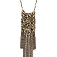 ModCloth Vintage Inspired Captivating Cascade Necklace in Brass