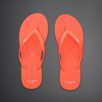 Pop Color Rubber Flip Flops