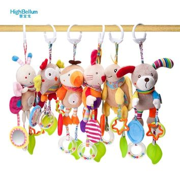 New Born Baby Stroller Toys  Bell Bed & Baby Stroller Hanging Bell Toys Educational Baby Rattle Toys Styles Soft Toys Gift