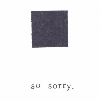 So Sorry Simple Sympathy Card Condolences Bereavement Minimalist Black And White Modern Minimal Abstract Greeting Card Apology Sad Loss