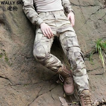 Men's Military Tactical Pants Men Outdoor CS Training Trousers Jungle Cargo Pants Camouflage Hunting Trousers Army Hunting Pants