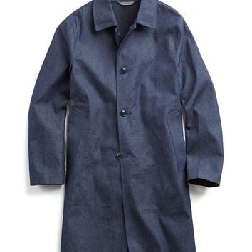 Todd Snyder + Mackintosh Dalblair Trenchcoat in Navy Chambray
