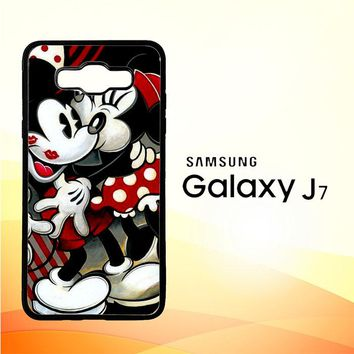Hugs And Kisses  Mickey Minnie Mouse Z1557 Samsung Galaxy J7 Edition 2015 SM-J700 Case