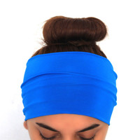 blue yoga hairband, headbands,Pilates headbands,headbands,yoga headbands