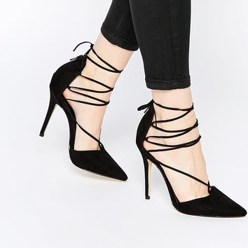 New Look Heeled Ghillie Court Shoe