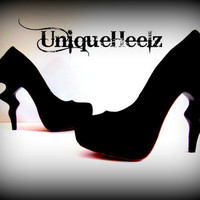 Swarovski Crystal  LIGHTNING Bolt Retro Heels  Size by UniqueHeelz