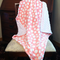 Minky Baby Blanket Car Seat Sized  Size by DesignsByDiBlankets