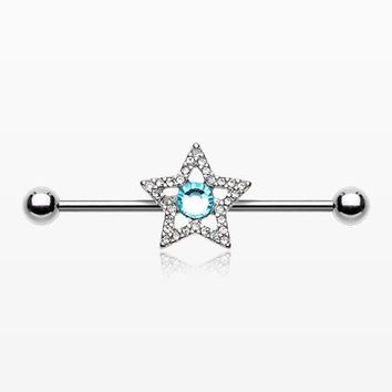 Grand Star Sparkle Industrial Barbell
