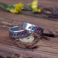 Batman and Robin Best Friend Rings