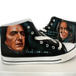 hand painted shoes/canvas shoes/Severus Snape /Harry Potter /sneaker