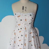 white bambi and co sweet heart dress - all sizes